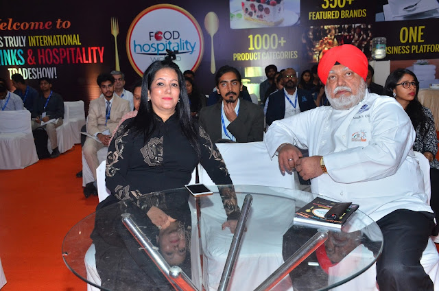 Ms. Sonia Chawla & Chef Manjit Singh Gill  at Food Hospitality World India 2017 Inauragtion Day