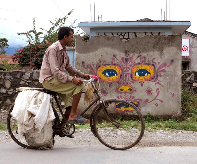 street art by stinkfish in nepal 11