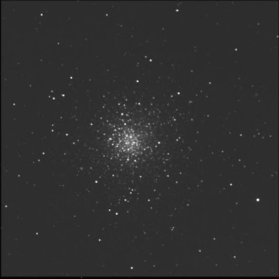 globular cluster Messier 10 in luminance