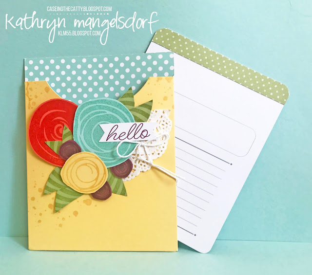 Stampin' Up! Pretty Pocket Card Kit, Swirly Bird, Sale-A-Bration created by Kathryn Mangelsdorf
