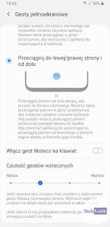 Samsung One UI 2 Gesty pełnoekranowe