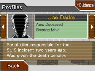 Joe Darke Phoenix Wright Ace Attorney Rise from the Ashes profile character