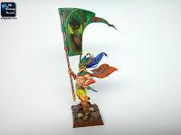 Wood Elves Standard Bearer conversion