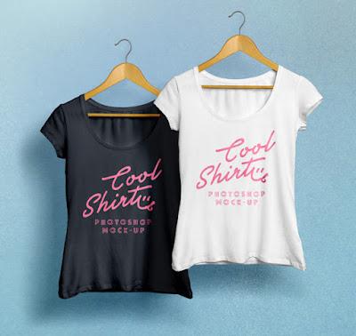 Woman T-Shirt MockUp PSD