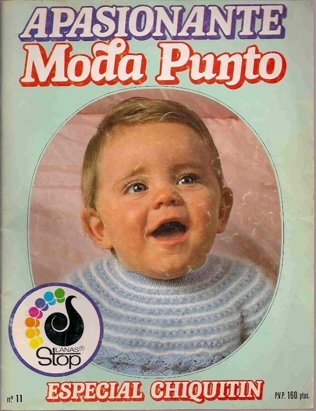Apasionante Moda Punto N°11  Especial Chiquitin(receitas em espanhol)Revista Emocionante Ponto Da Moda N°11 -Trico Para Bebes