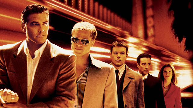 George Clooney, Brad Pitt, Matt Damon, Andy Garcia, Julia Roberts - Ocean's Eleven (2001)