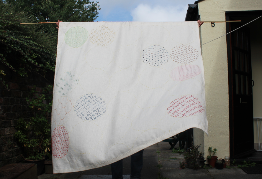 Trees And What Not Sashiko Wall Hanging