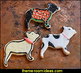 French Bulldog Cookie Cutter  puppy themed birthday party -  kids dog theme birthday party - dog birthday party decorations - Puppy Birthday Party Supplies - pet party paw prints - dog bone shaped decorations - kids birthday pet theme party - furbabies birthday party - pooch party