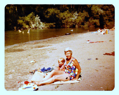 Natalie F. Vasilev chillin at the Russian River in the very early 1980's.