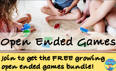 Get a year's worth of free open ended games growing bundle at Looks Like Language!