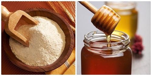 Mặt nạ làm trắng da từ bột gạo và mật ong