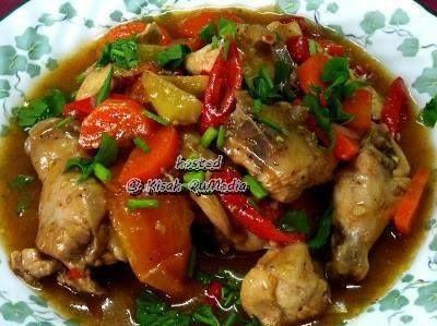 Ayam Masak Halia Ringkas Dan Sedap