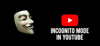How to enable the incognito mode in YouTube