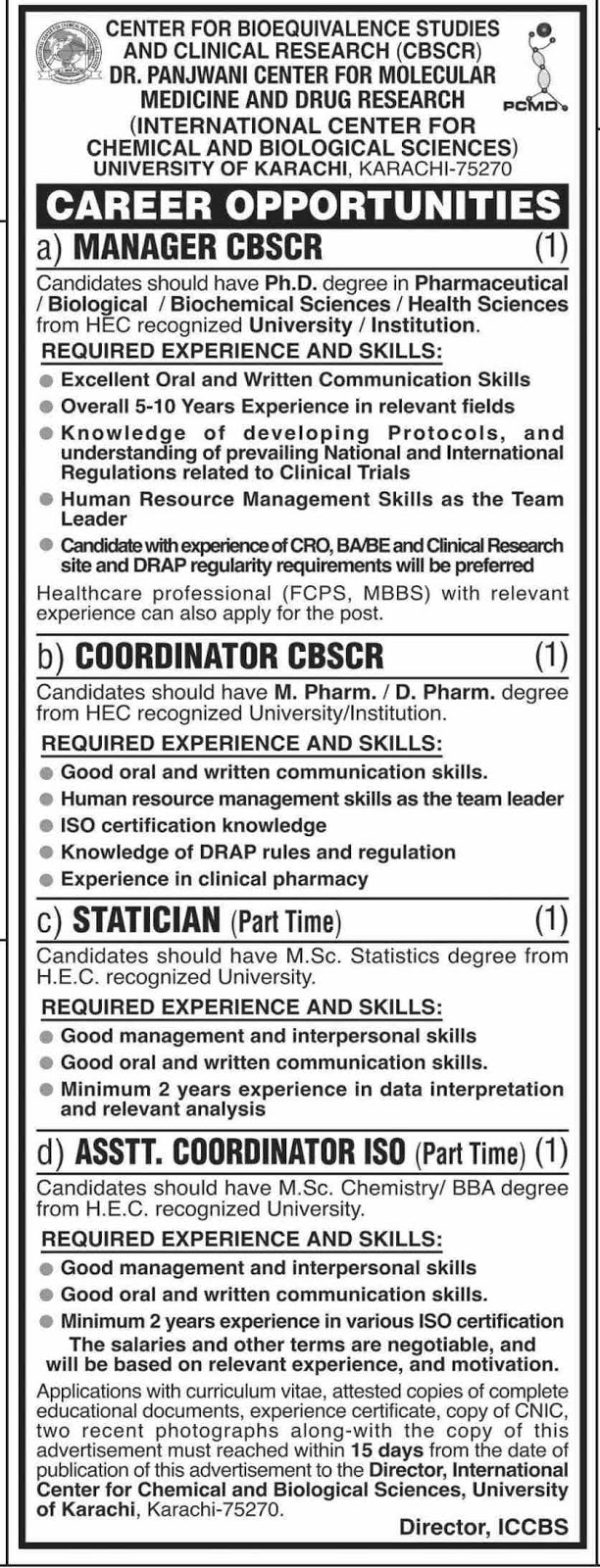 University Of Karachi Jobs 2019