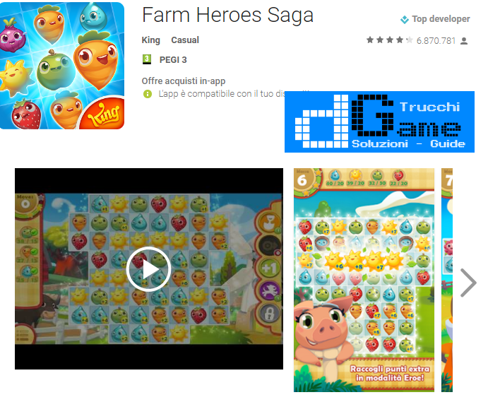 Trucchi Farm Heroes Saga Mod Apk Android v2.64.4