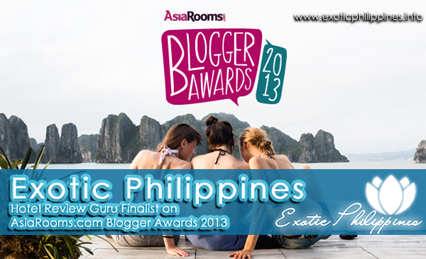Exotic Philippines Hotel Review Guru Finalist on AsiaRooms Blogger Awards 2013