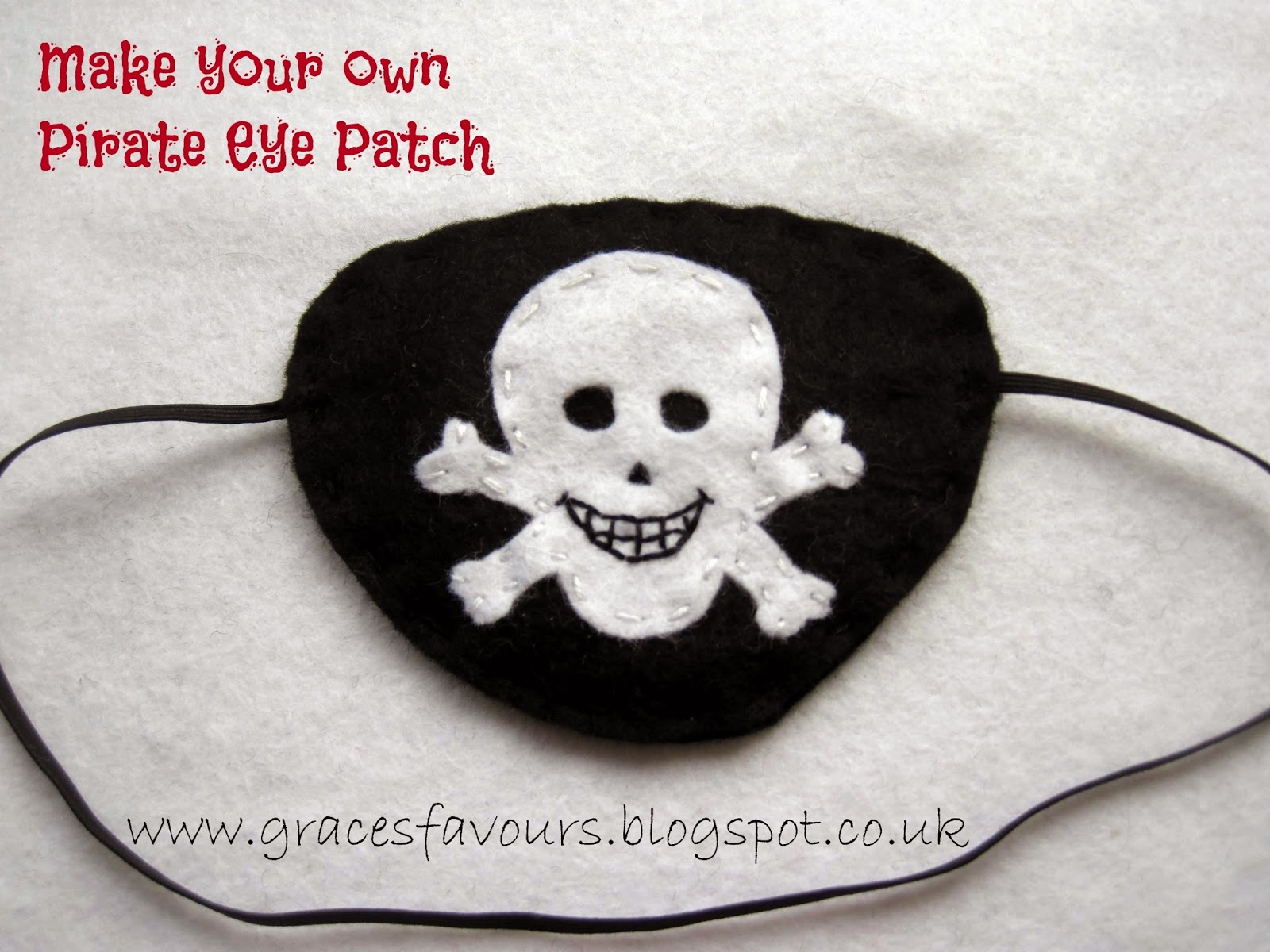 3a4f14f93 Grace's Favours - Craft Adventures: How to Make a Felt DIY Pirate Eye Patch  Tutorial