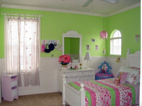 Cuartos para ni as en verde y rosa dormitorios colores y for Decoracion de cuartos para 2 ninas