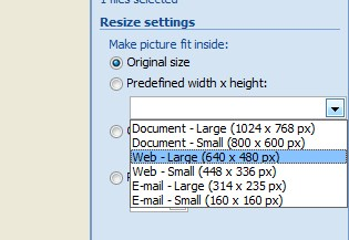 standar ukuran gambar