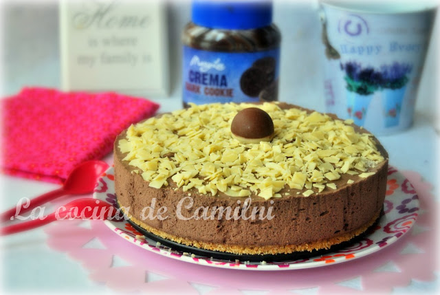 Tarta mousse de crema dark cookie (La cocina de Camilni)