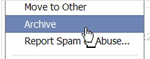 How do I archive a conversation on Facebook