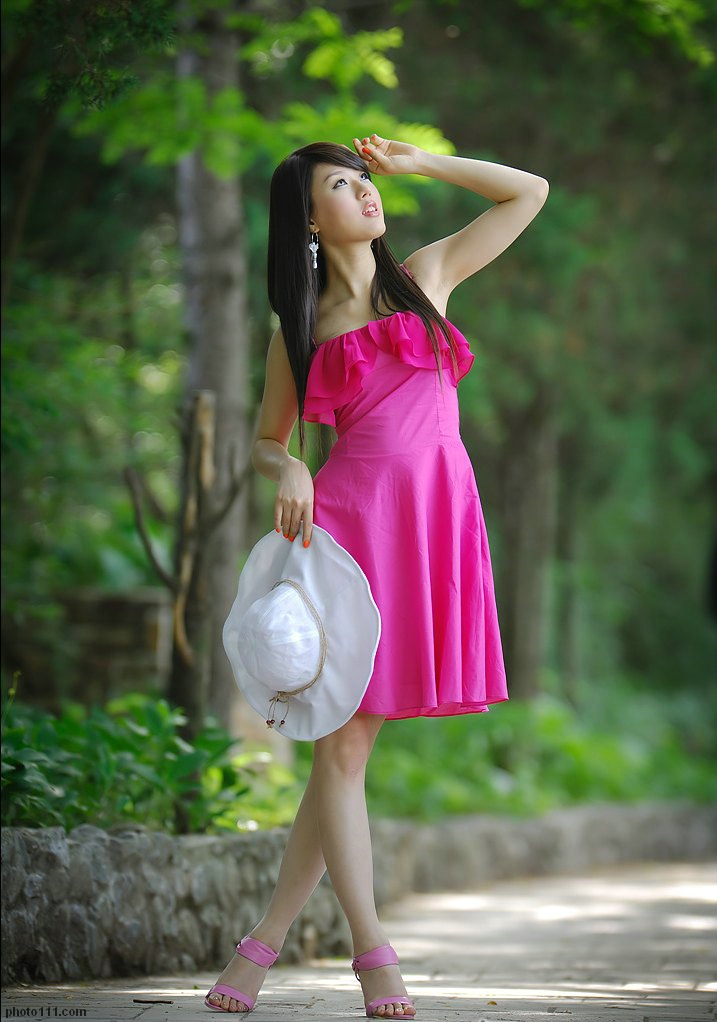 hwang mi hee sexy pink dress 03
