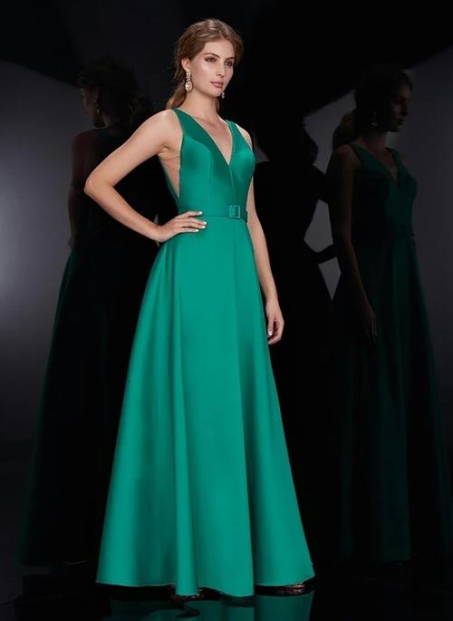 vestido de festa verde dress