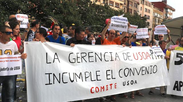 protesta de trabajadores del taller Usoa