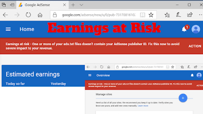 Earnings at Risk,earnings at risk,earnings at risk issue,How to Fix Google AdSense Earnings at Risk Issue