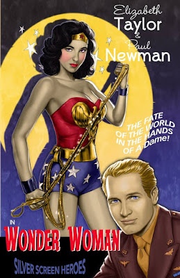 Wonder Woman featuring Elizabeth Taylor as the Amazon Princess and Paul Newman as Steve Trevor