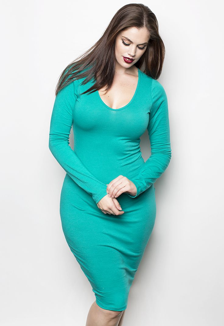 Plus Size Formal Dresses Under 100: Plus Size Bodycon Midi Dresses Fit Body