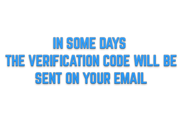 IN SOME DAYS  THE VERIFICATION CODE WILL BE  SENT ON YOUR EMAIL