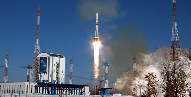Soyuz-2.1a launches from Vostochny Cosmodrome on February 1. Photo Credit: Roscosmos