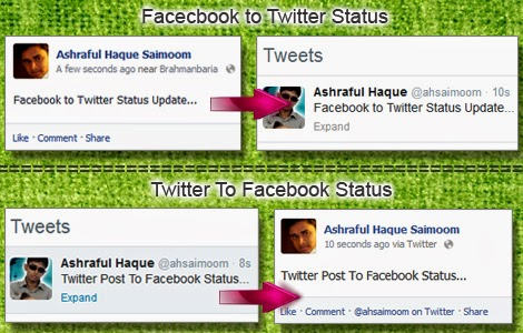 How to connect Facebook and  twitter