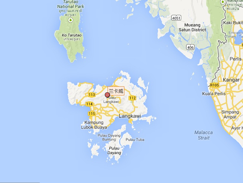 Langkawi (浮羅交怡)地圖 ~ Langkawi 蘭卡威