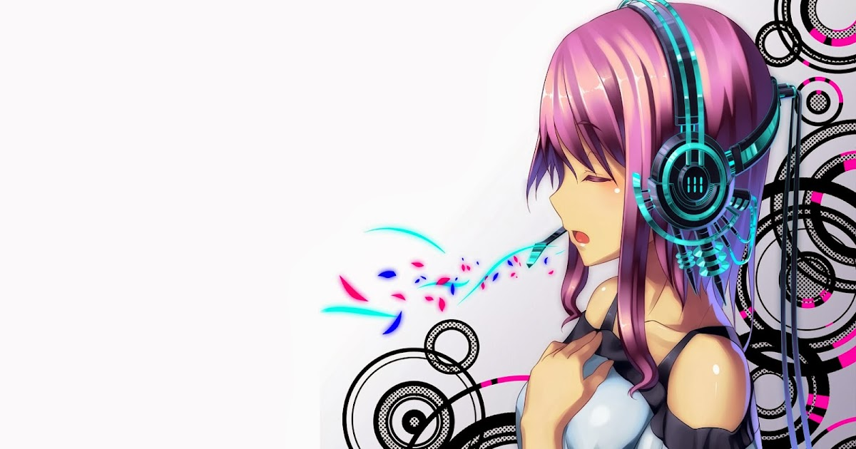 Wallpaper of the day headphones abstract anime girl - Abstract anime girl ...