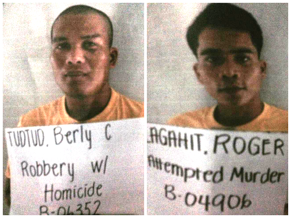 Berly Tudtud and Roger Lagahit mugshots