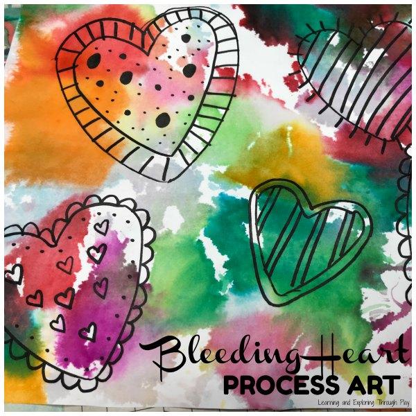 Bleeding Tissue Valentines Heart Craft for Preschoolers