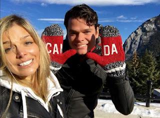 Milos having fun with the girlfriend Danielle