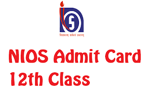 NIOS 12th Admit Card Download Senior Secondary Exam Hall Ticket