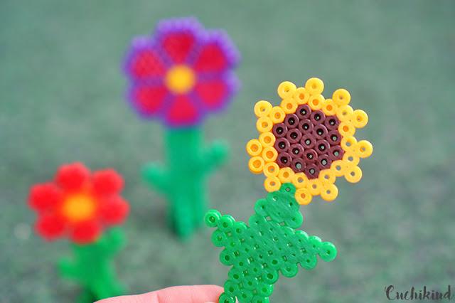 Sonnenblume aus Bügelperlen