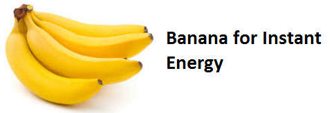 Health Benefits of Banana fruit - Banana for Instant Energy