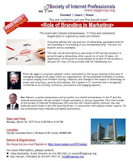 Role of Branding in Marketing, Society of Internet Professionals, poster