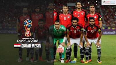 Skuad Susunan Pemain Mesir di Piala Dunia 2018