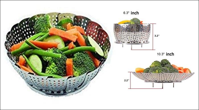 SYGA Stainless Steel Steamer Basket for Vegetable/Insert