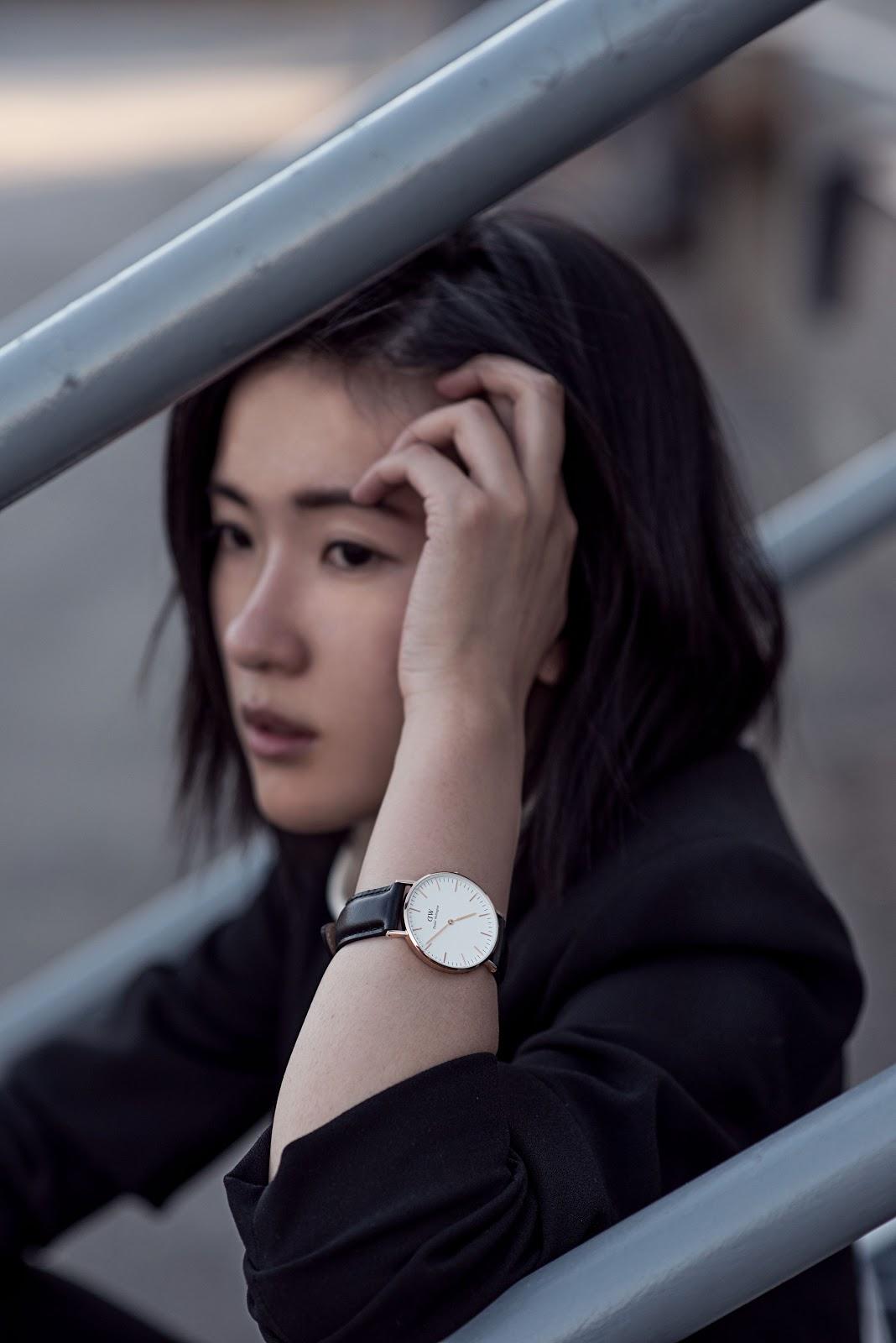 von vogue daniel wellington watch zara tibi crop top
