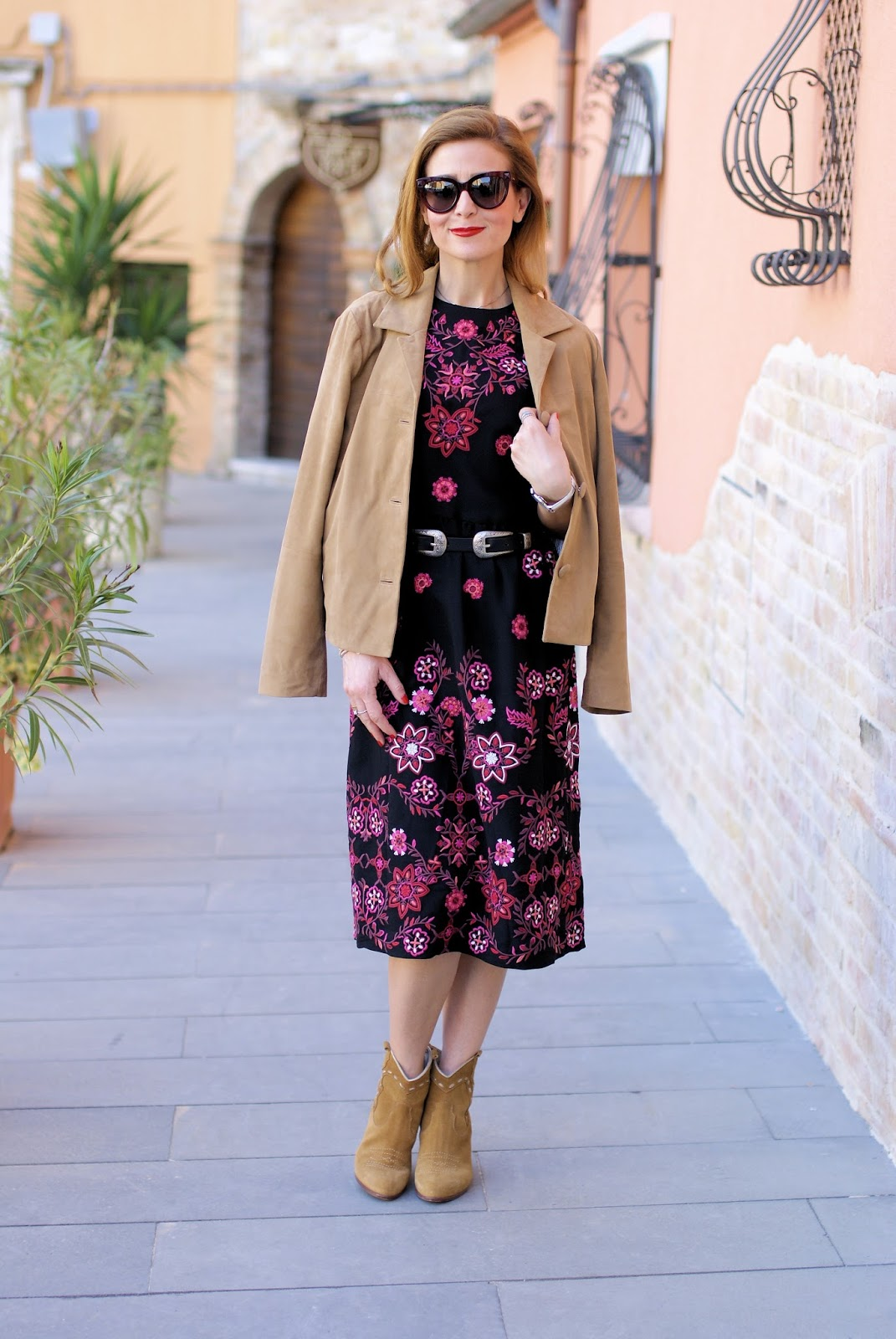 Western folk chic outfit with french brand 1.2.3 Paris on Fashion and Cookies fashion blog, fashion blogger style