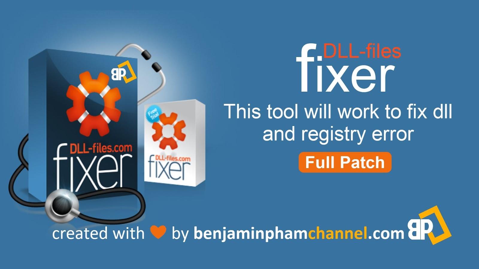 DLL-Files Fixer fix dll and registry error - full patch