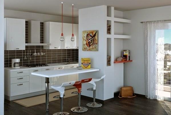 Decoracion cocinas peque as modernas - Decoraciones cocinas pequenas ...