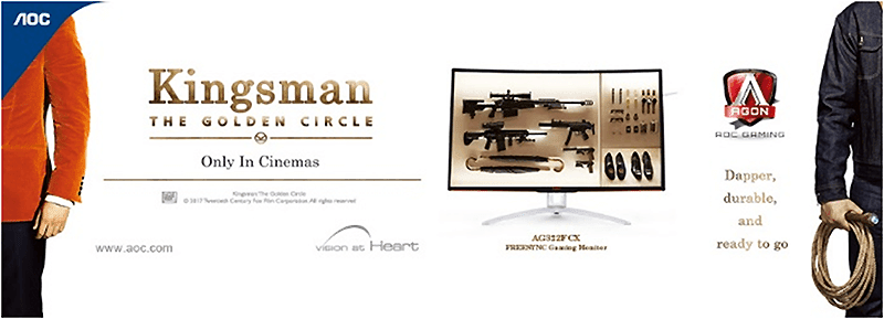 AOC unveils their new gaming monitors in a Kingsman event